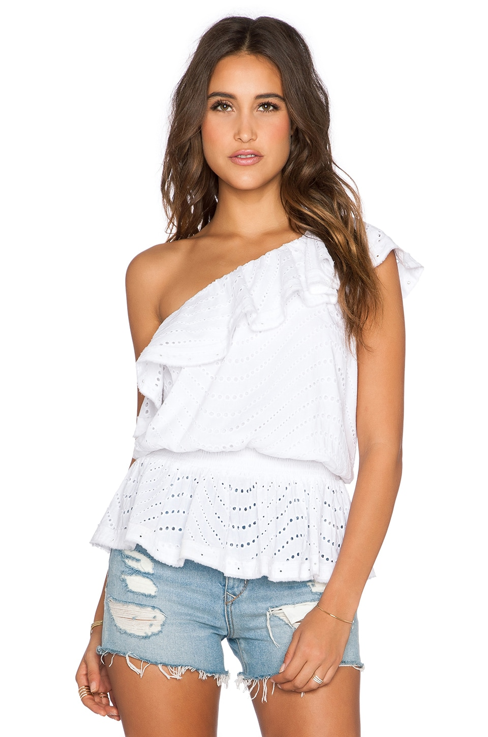 Tularosa Norfolk Blouse in White