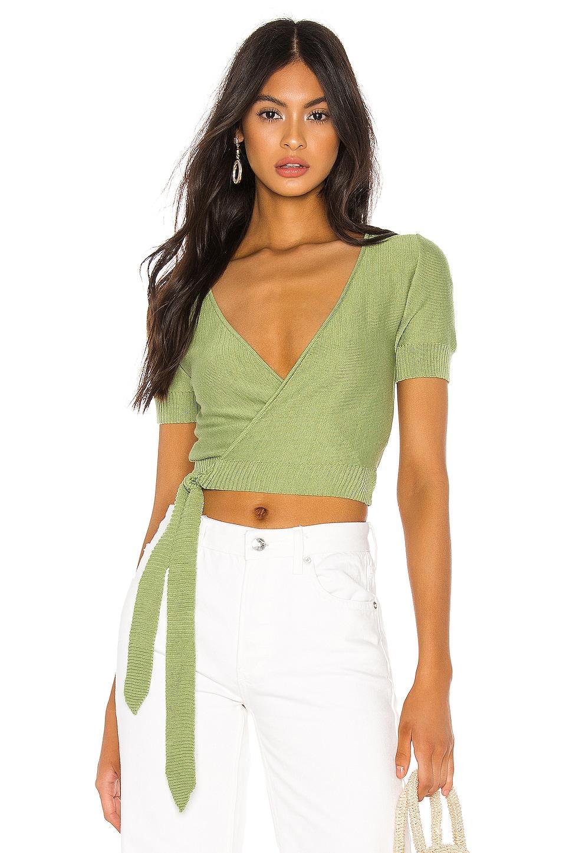 Tularosa Danny Wrap Sweater in Green