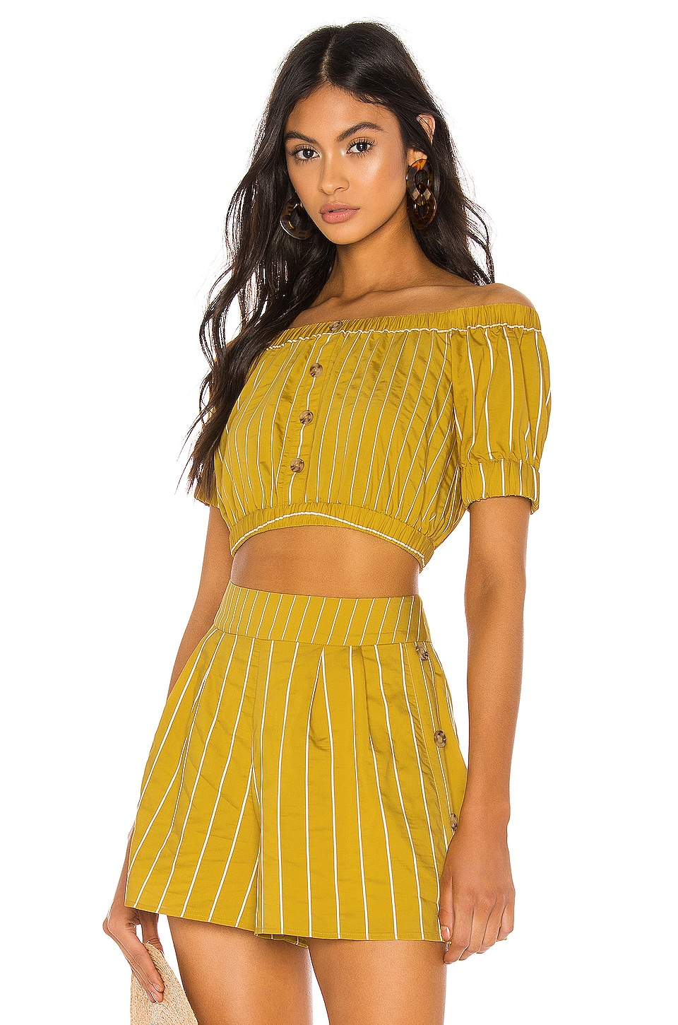 Tularosa Margo Top en Mustard Yellow