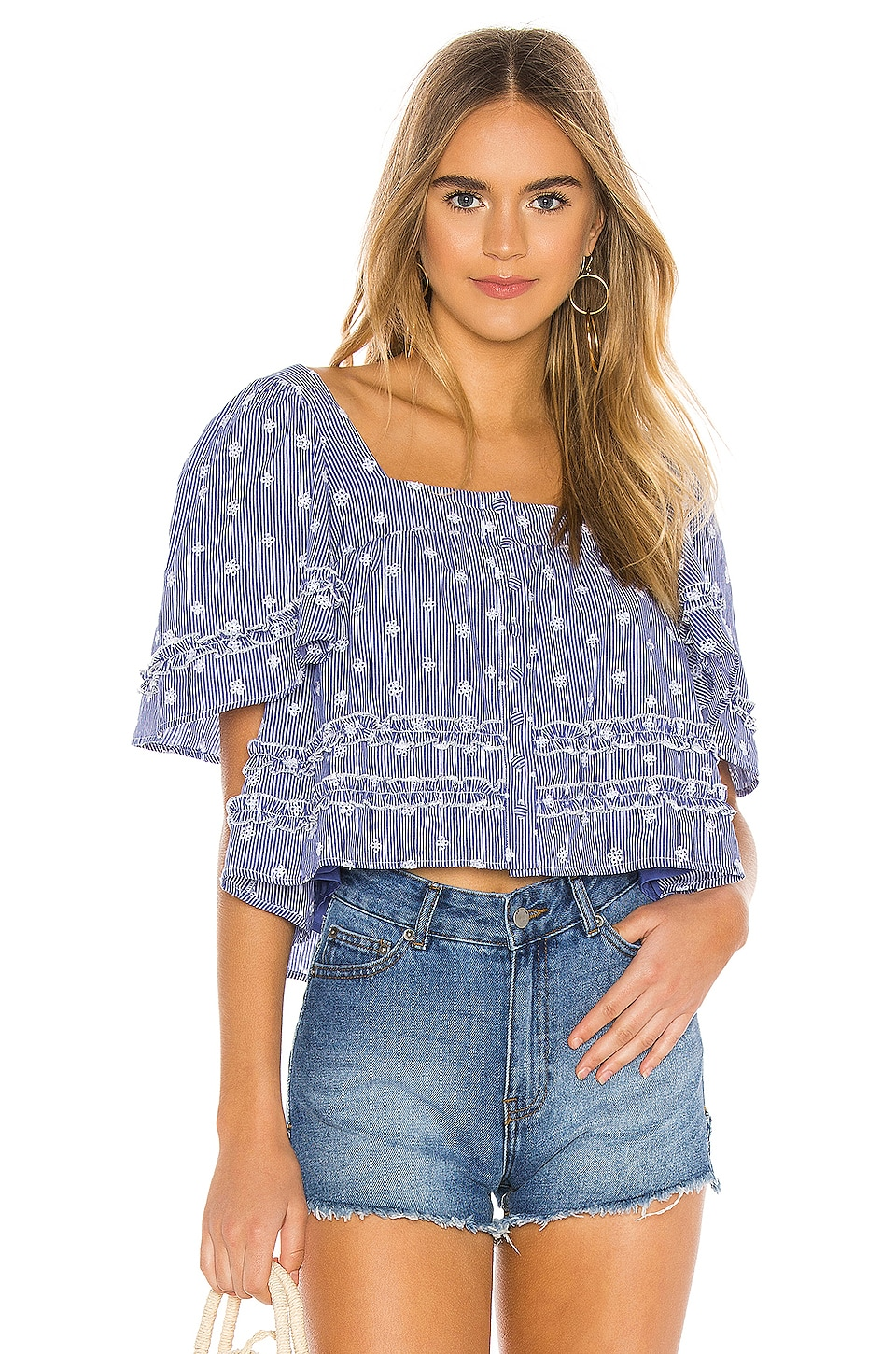 Tularosa Laney Top in Navy & White