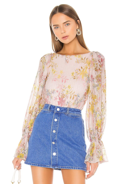 Tularosa Janet Bodysuit in lt Rose Floral
