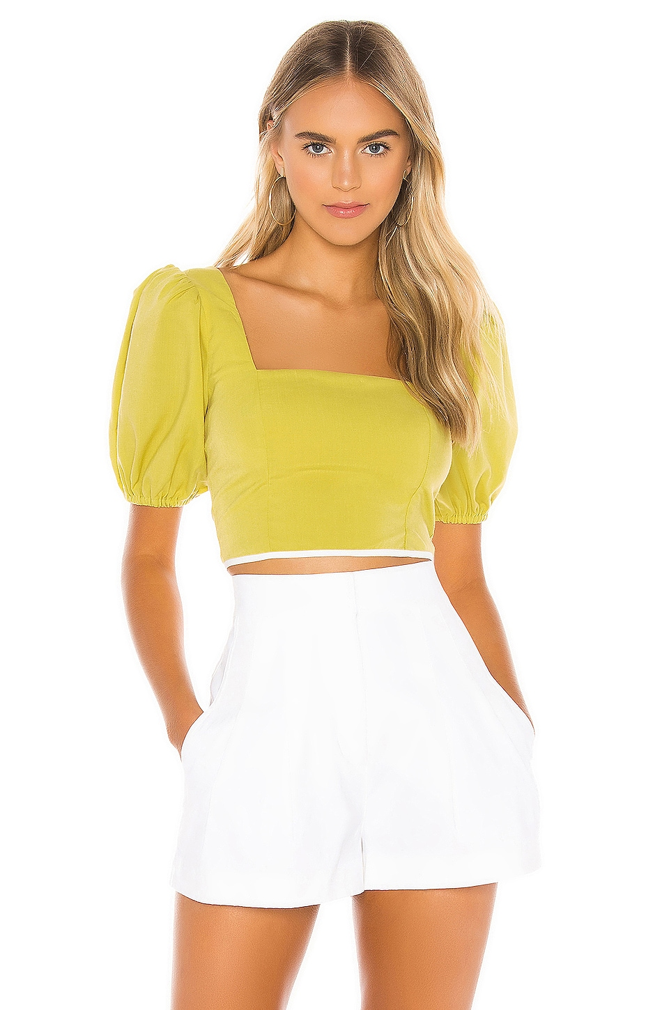 Tularosa Berenice Top in Chartreuse Green