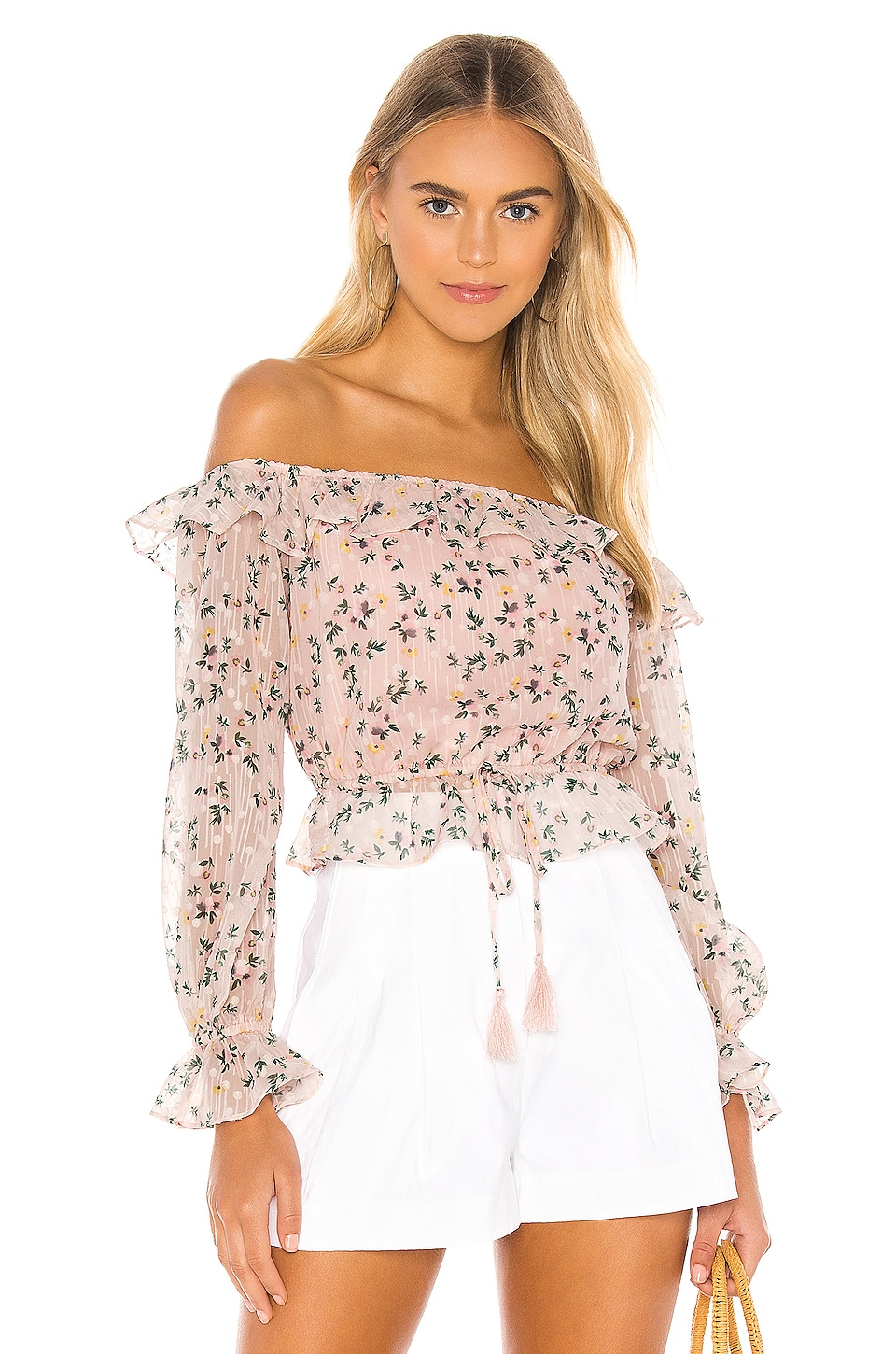 Tularosa Grace Top in Pale Pink Floral