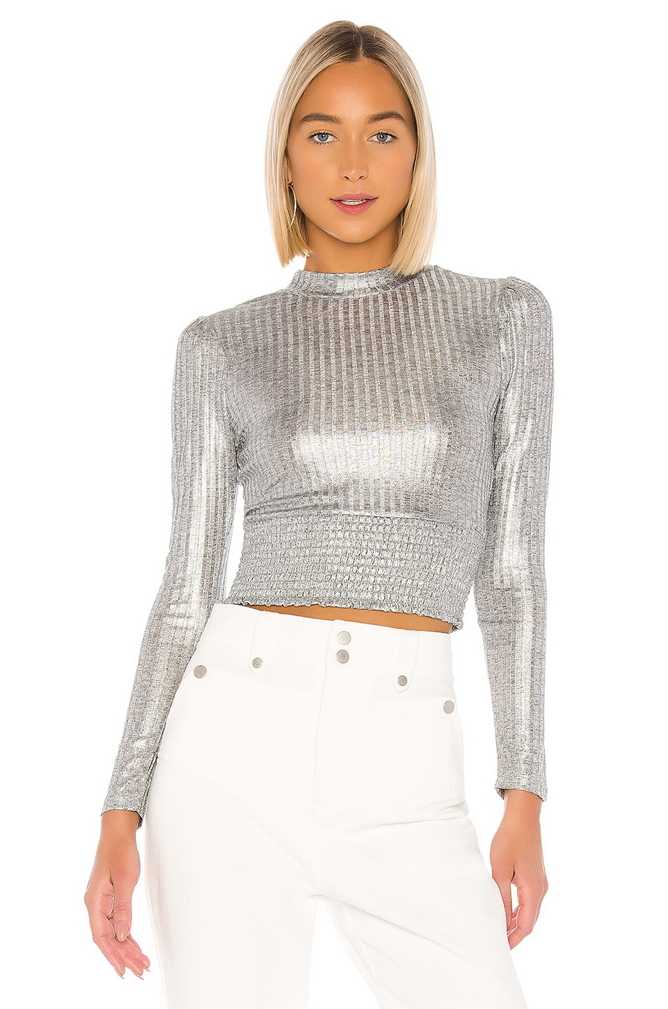 Tularosa Colette Top in Silver