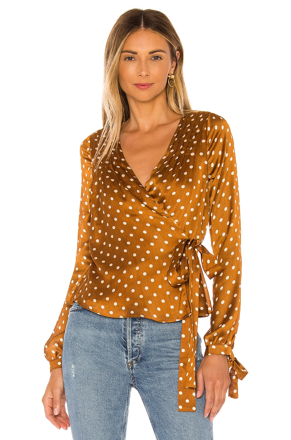 Tularosa Charmaine Wrap Top in Camel