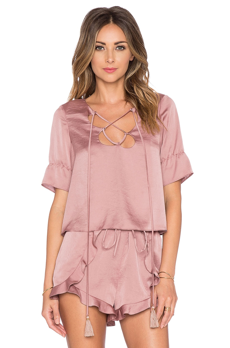 Tularosa Phoebe Top in Dusty Rose