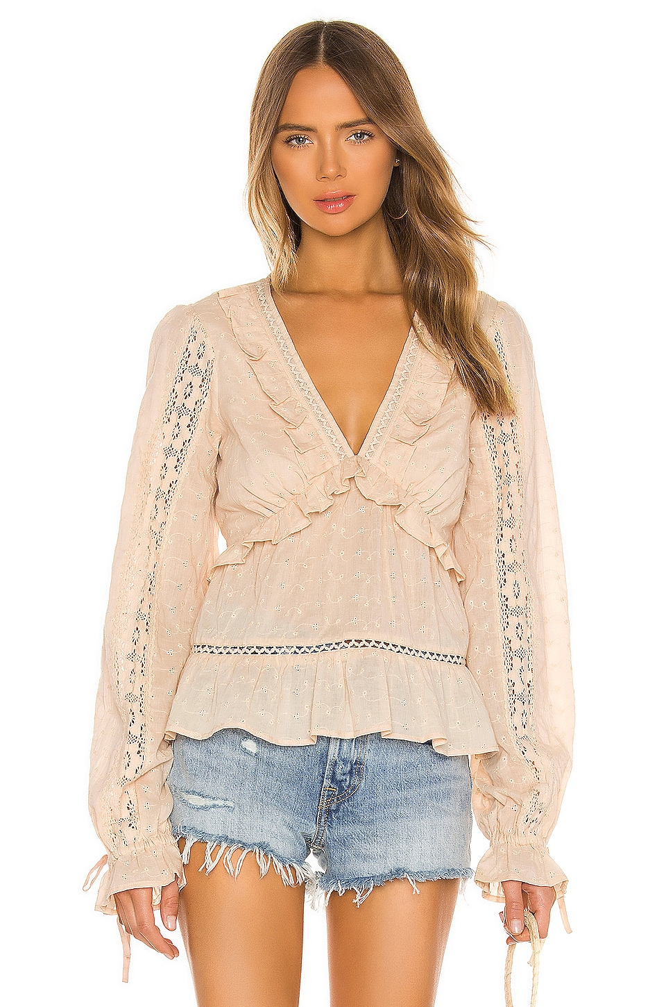 Tularosa Frankie Top in Neutral