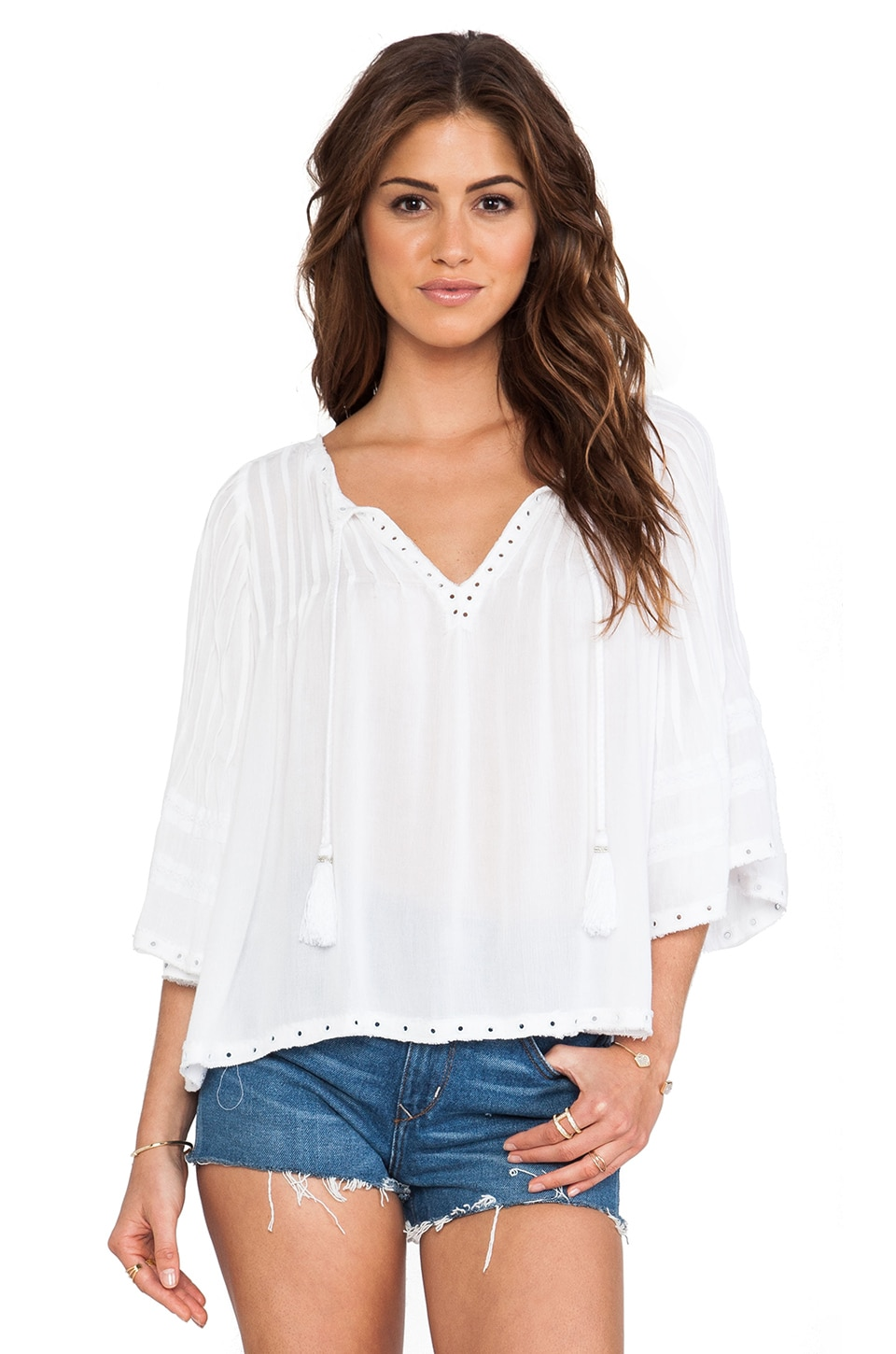 Tularosa Huxley Top in White