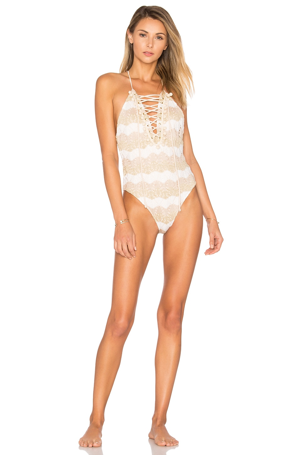 Tularosa Walker One Piece in Ivory Stripe
