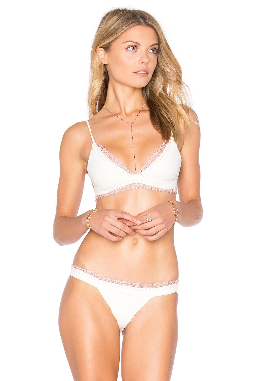 Tularosa Lexi Bikini Top in Ivory