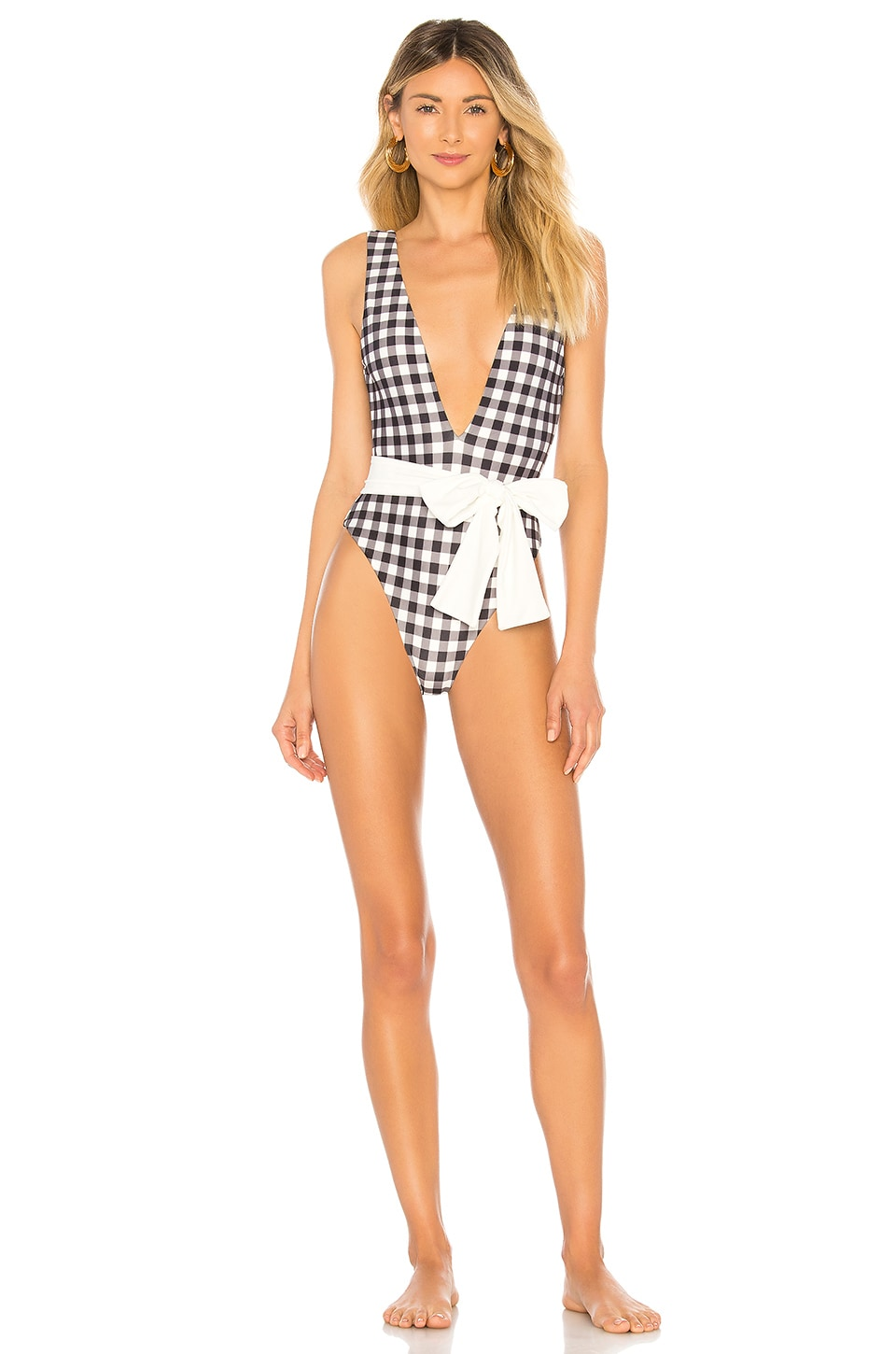 Tularosa Claudia One Piece in Black Gingham