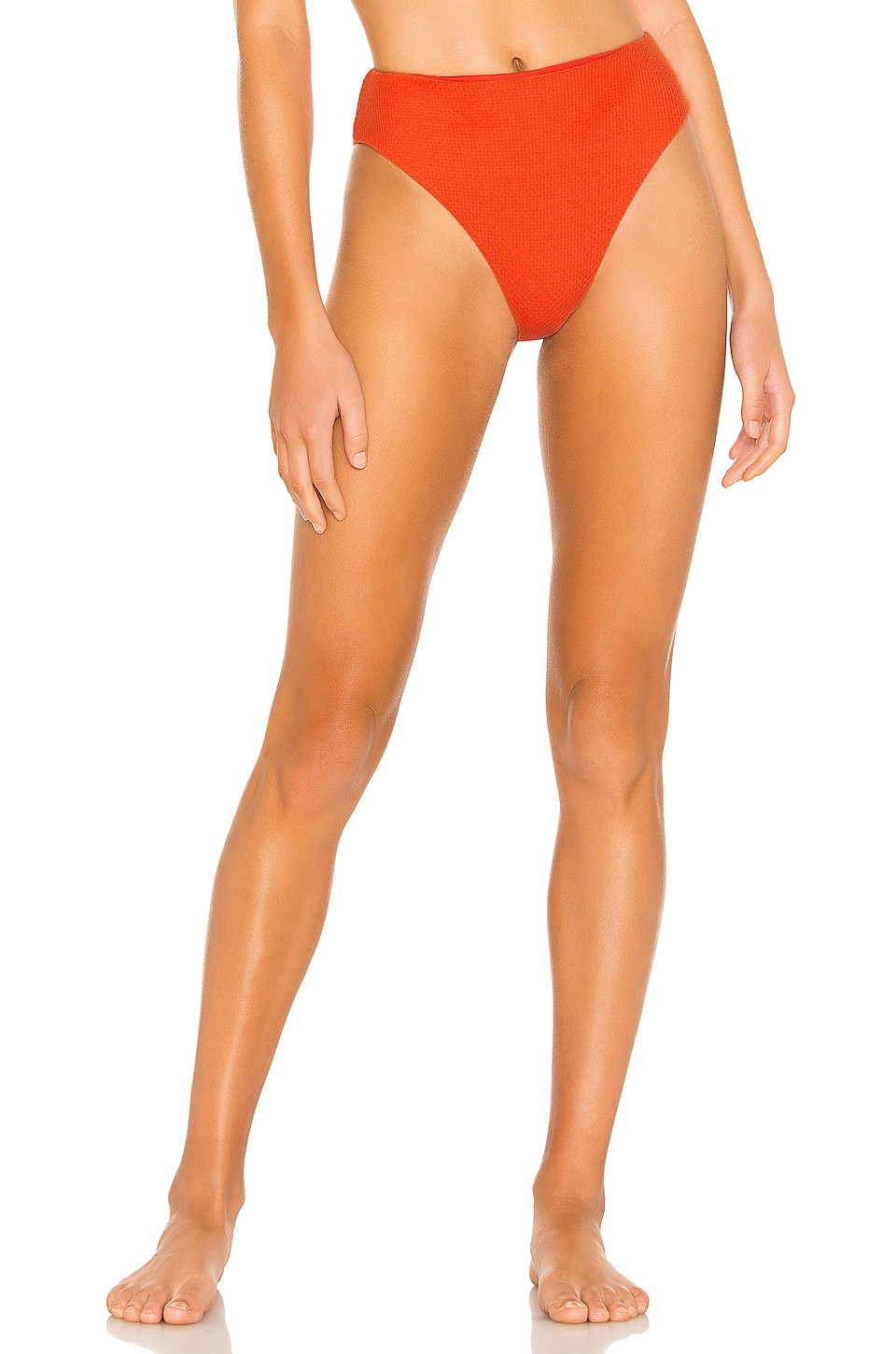Tularosa Sylvie High Waist Bottom in Hot Coral