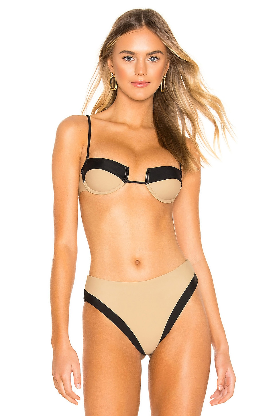 Tularosa Madona Top in Nude & Black