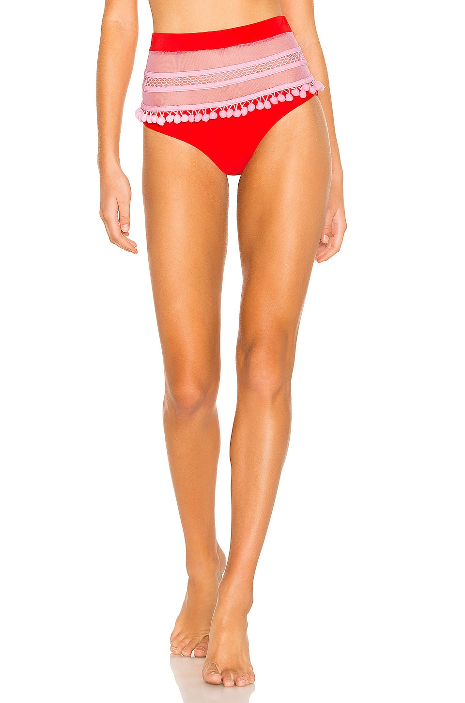 Tularosa Thessy Bottom in Red & Pink