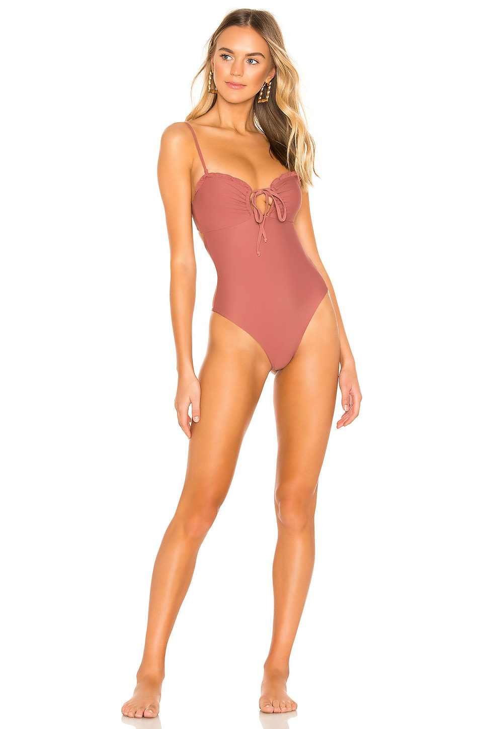 Tularosa Shimmy One Piece in Brown