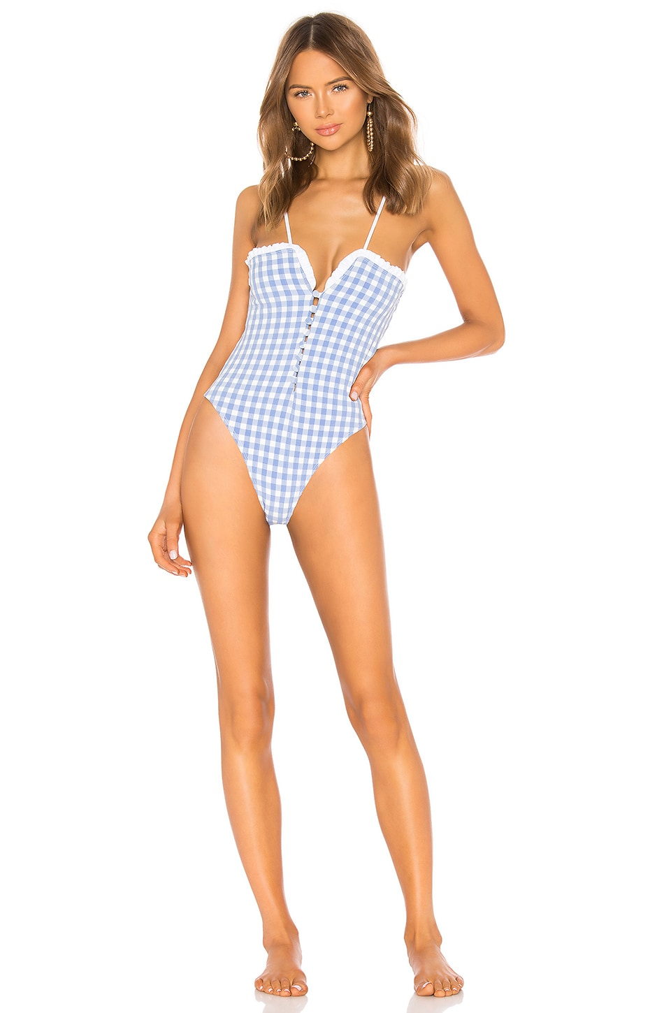 Tularosa Lakin One Piece in Periwinkle Gingham
