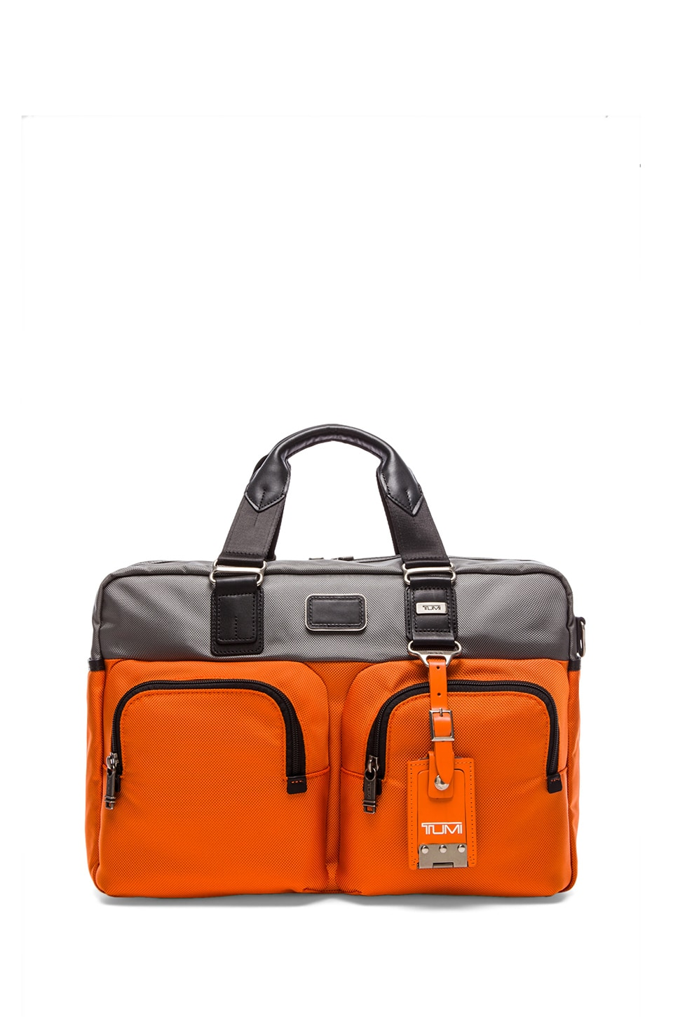 Tumi Alpha Bravo Everett Essential Tote in Grey & Orange