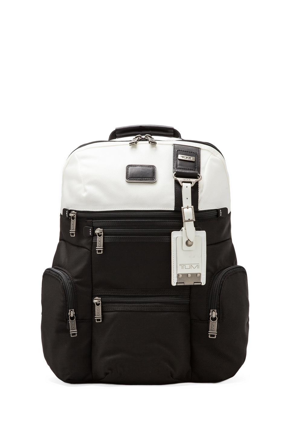 Tumi Alpha Bravo Knox Backpack in White/Black