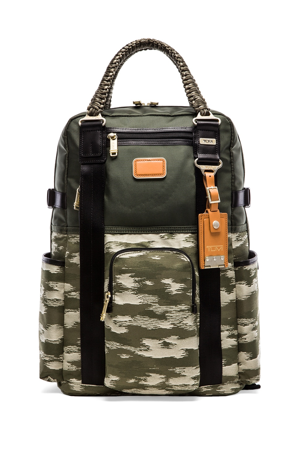 Tumi Alpha Bravo Lejeune Backpack Tote in Spruce & Camo