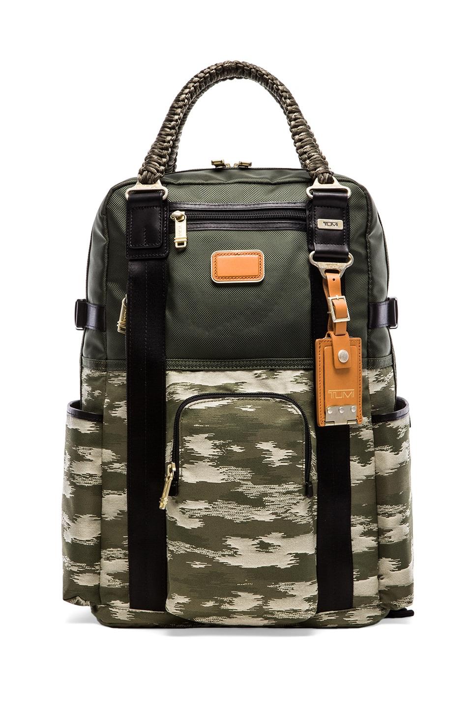 Tumi Alpha Bravo Lejeune Backpack Tote in Spruce & Camo