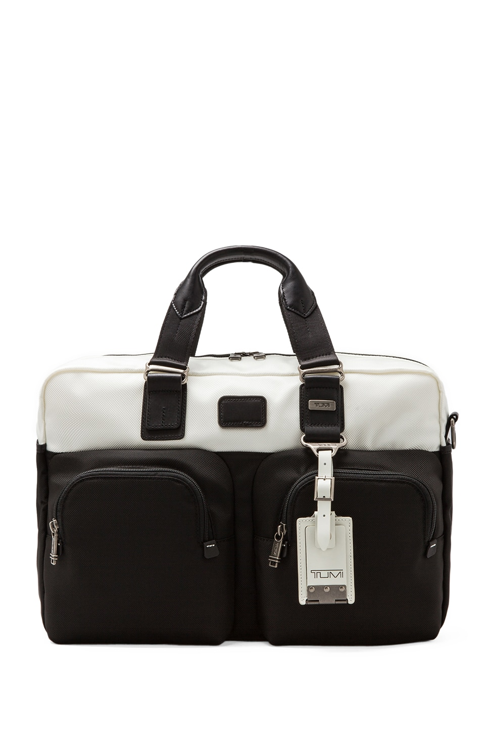 Tumi Alpha Bravo Everett Essential Tote in White/Black