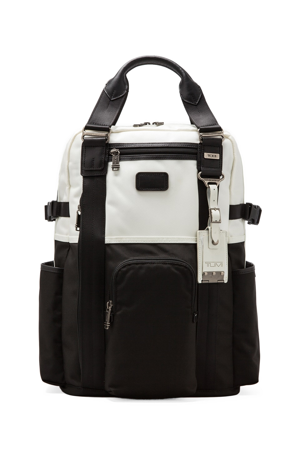 Tumi Alpha Bravo Lejeune Backpack Tote in White & Black