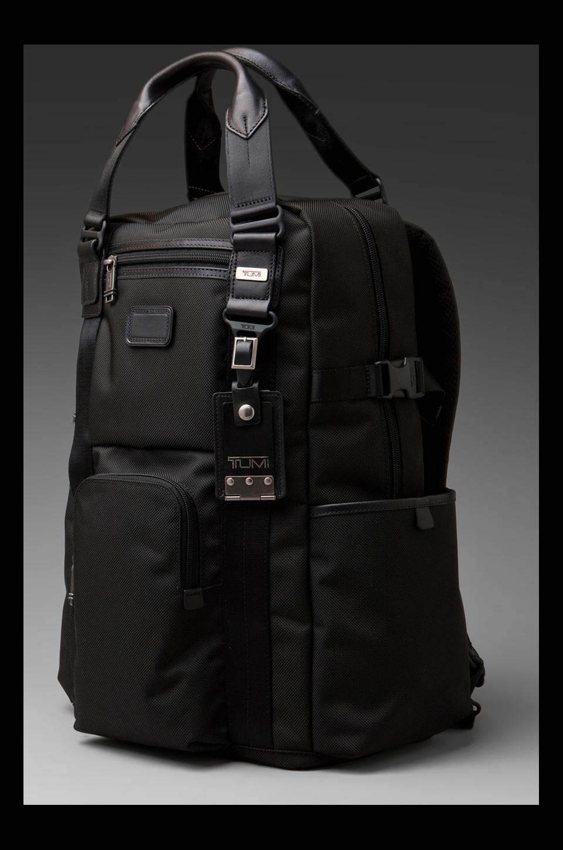 Tumi Alpha Bravo Ballistic Nylon Lejeune Backpack Tote in Black