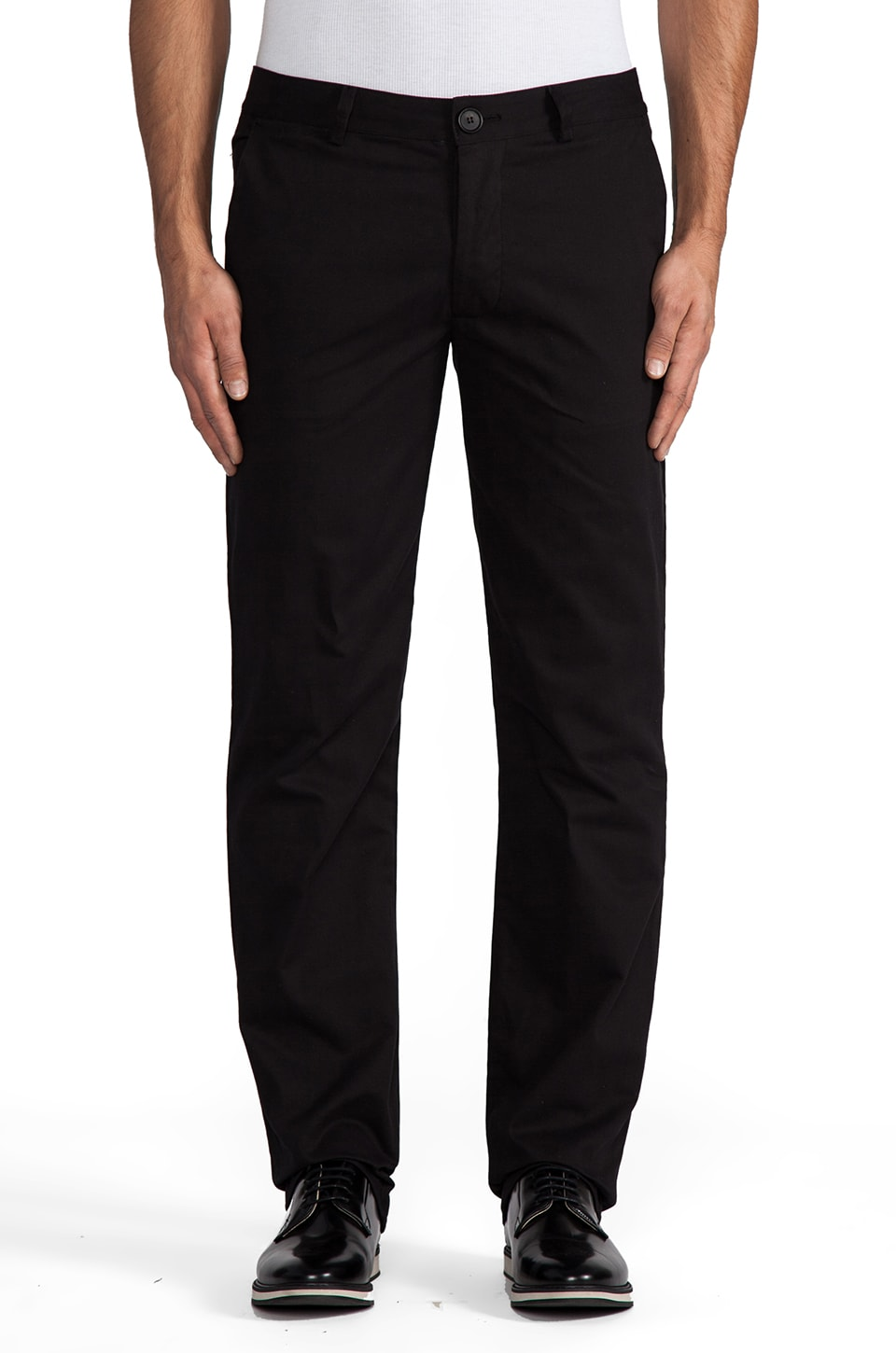 TIMO WEILAND Straight Leg Trouser in Black