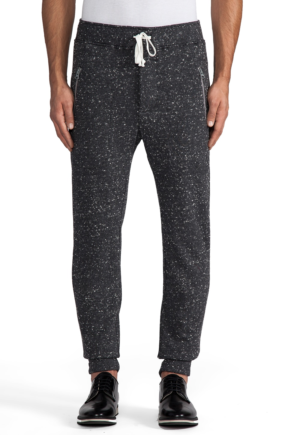 TIMO WEILAND Dushane Sweatpant in Grey Dot/ Black