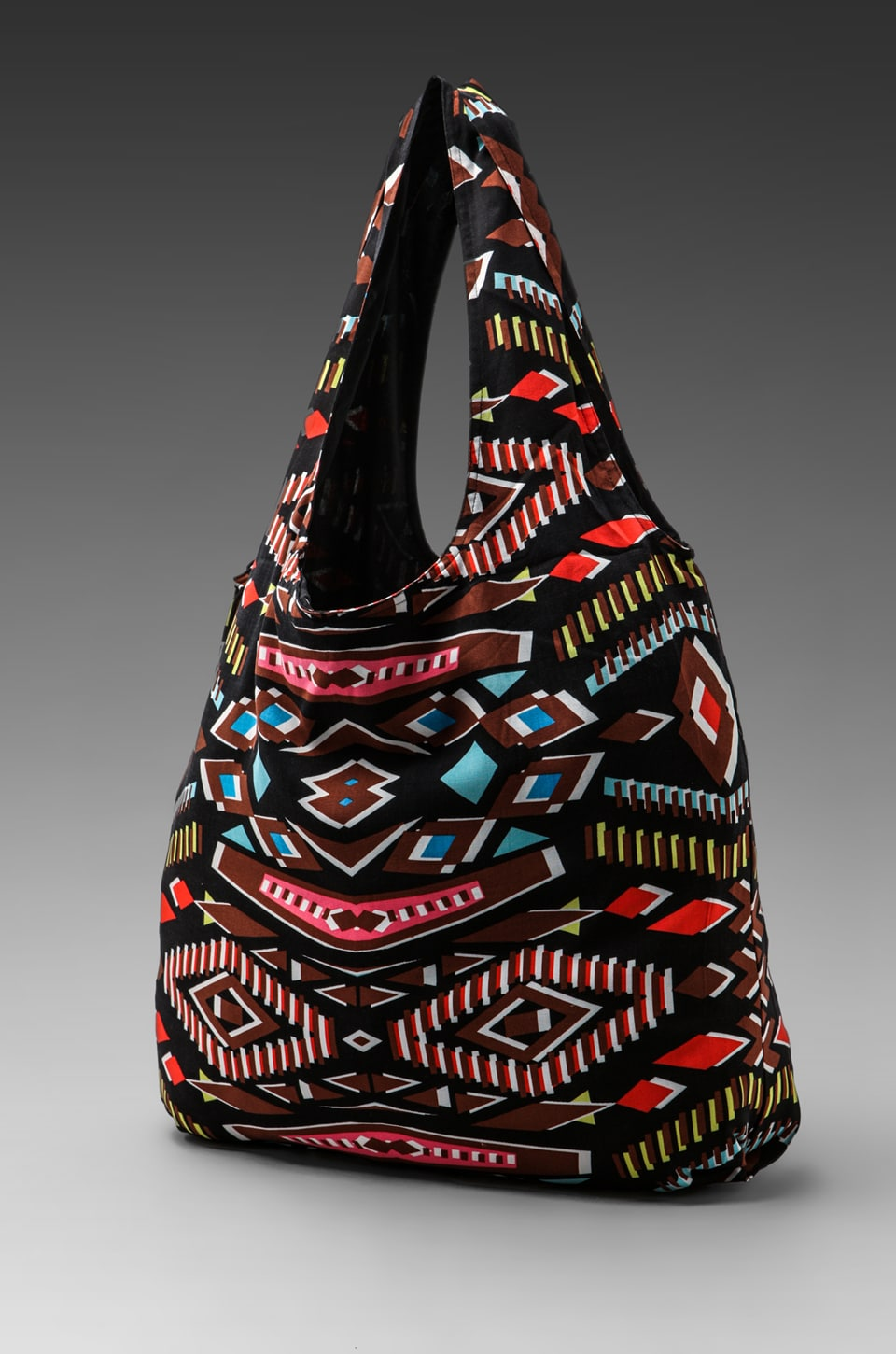Twelfth Street By Cynthia Vincent Printed Shopper Bag in Tribal Diamond