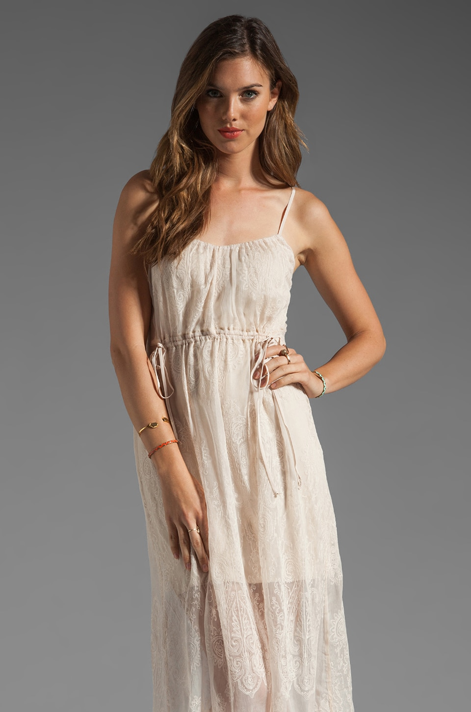 Twelfth Street By Cynthia Vincent High-Low Tank Dress in Cream