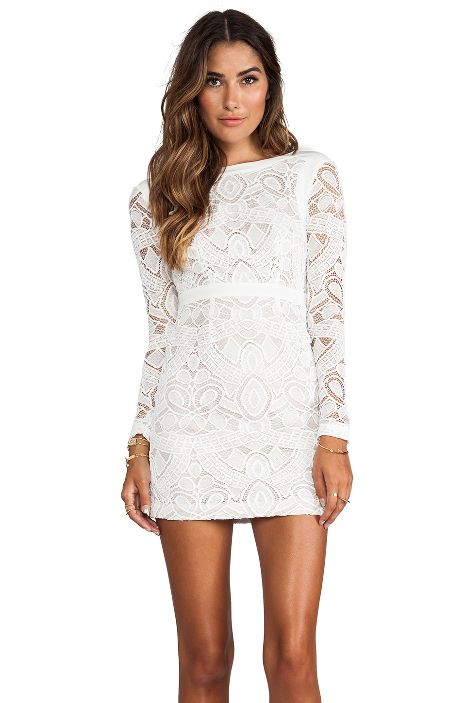 Twelfth Street By Cynthia Vincent Both Sides Now Zipper Back Dress in White