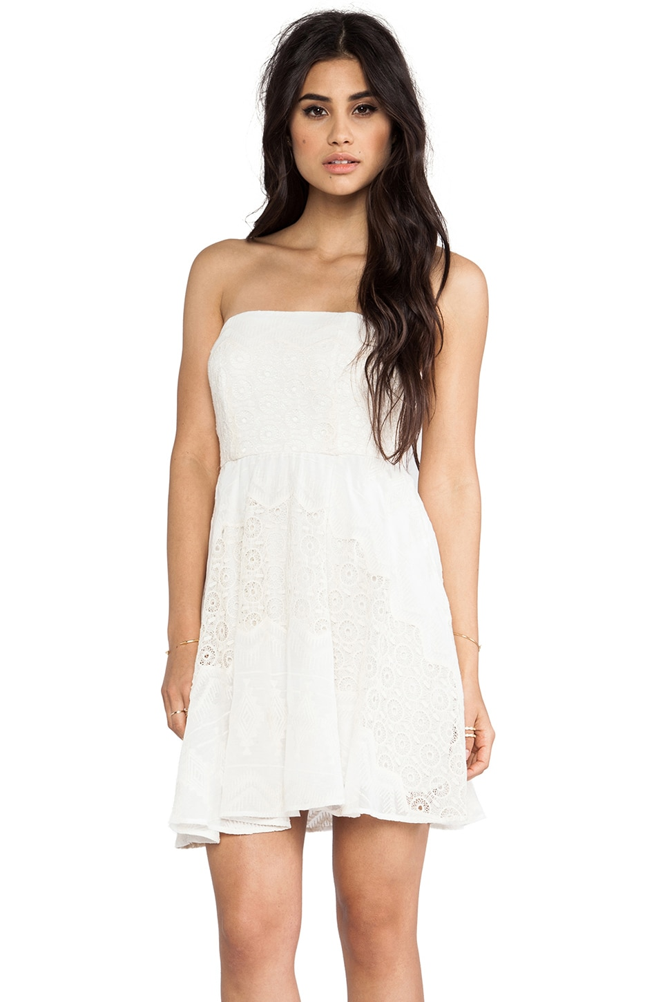 Twelfth Street By Cynthia Vincent Strapless Party Dress in White