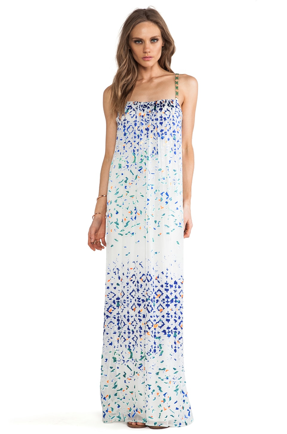 Twelfth Street By Cynthia Vincent Beaded Strap Maxi Dress in Multi