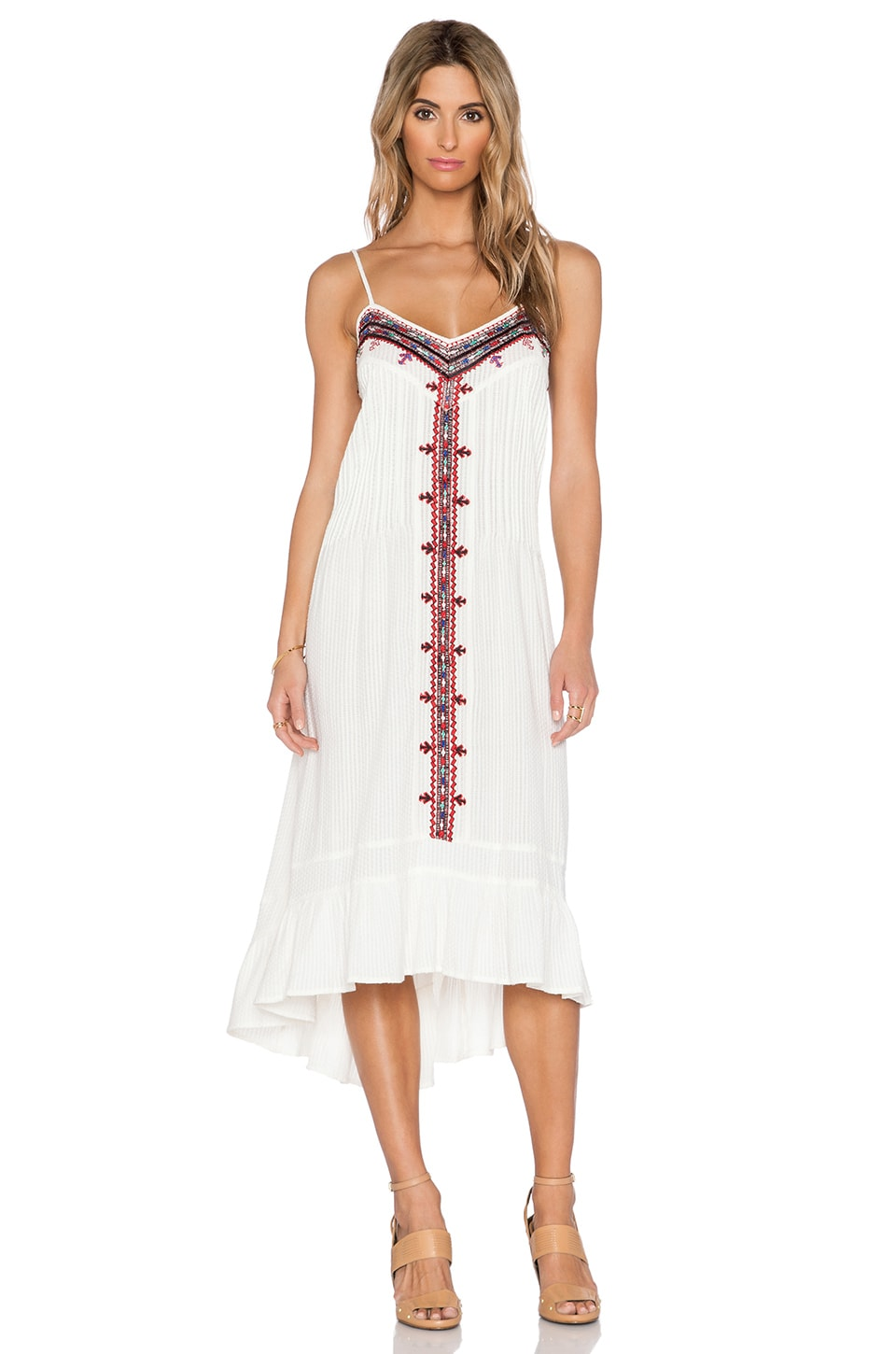 Twelfth Street By Cynthia Vincent Embroidered Western Dress in Ivory