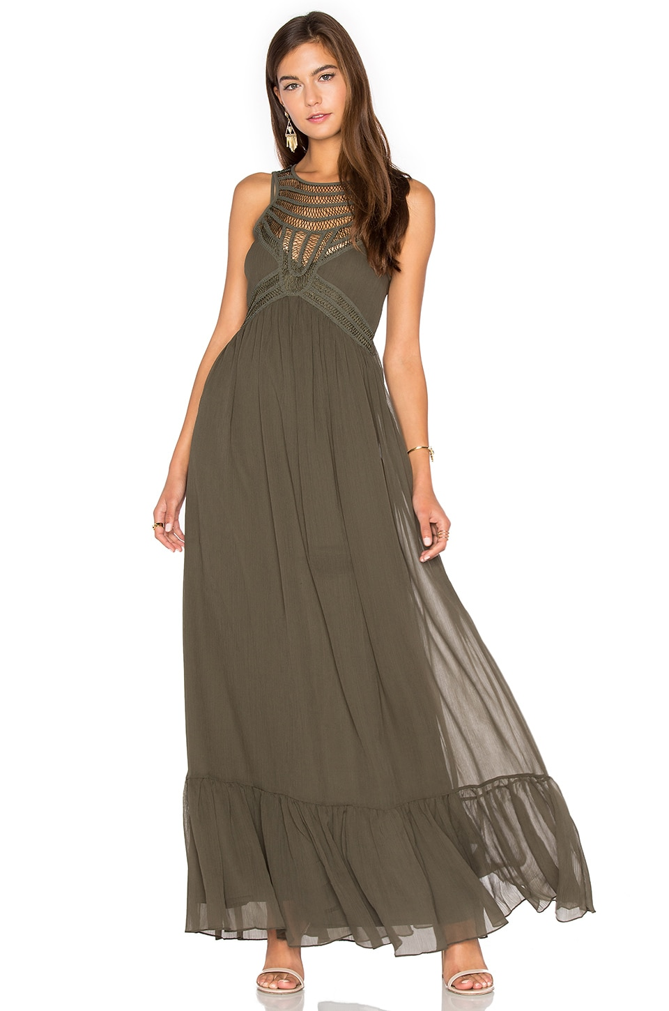 Front Embellishment Maxi Dress by Twelfth Street By Cynthia Vincent
