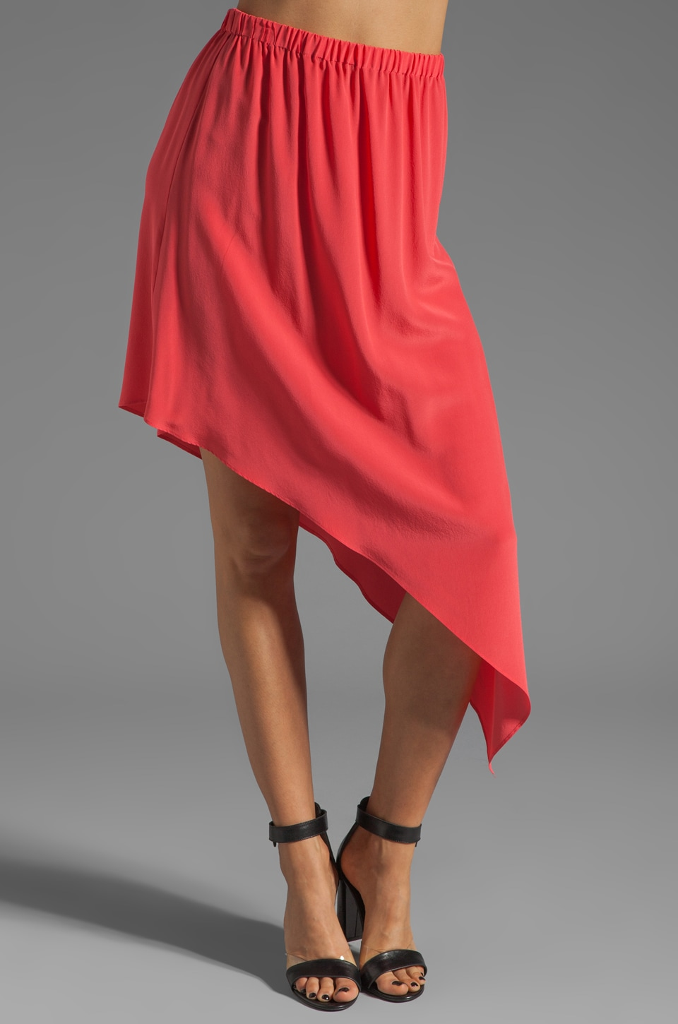 Twelfth Street By Cynthia Vincent Reversible Asymetrical Skirt in Coral