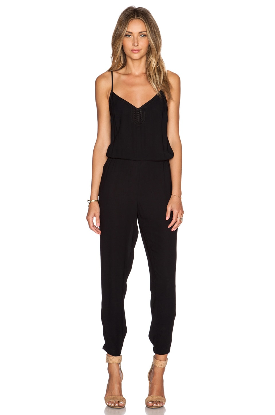 Twelfth Street By Cynthia Vincent Indian Jumpsuit in Black