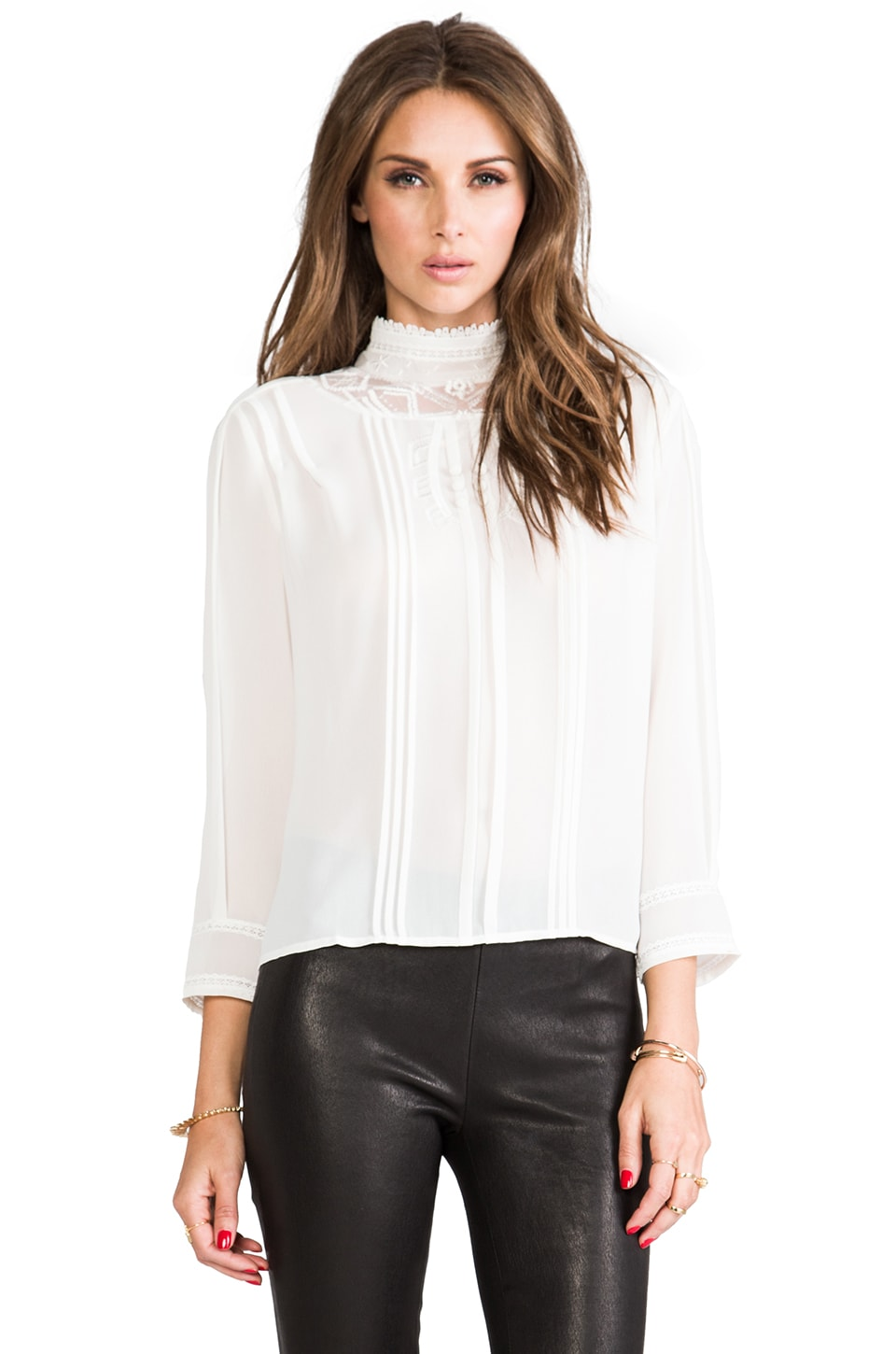 Twelfth Street By Cynthia Vincent Paprika Plains Embroidered Blouse in White