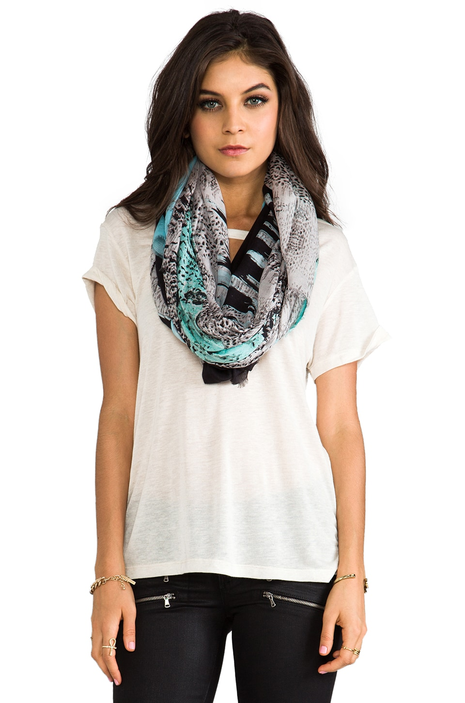 Twelfth Street By Cynthia Vincent Carey Animal Geode Scarf in Geode