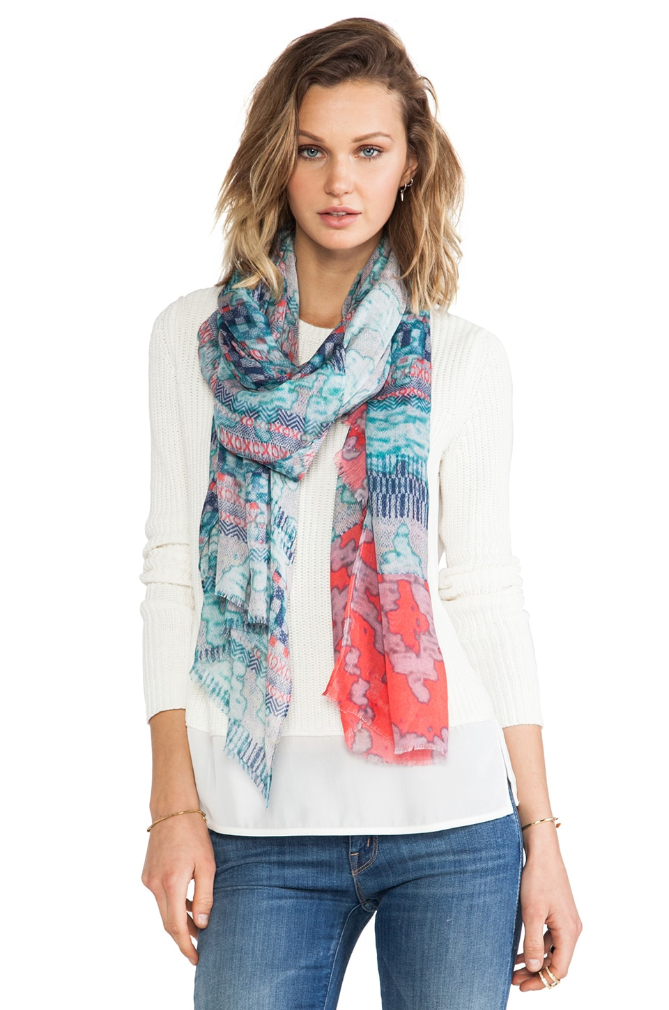 Twelfth Street By Cynthia Vincent Jacquard Scarf in Multi