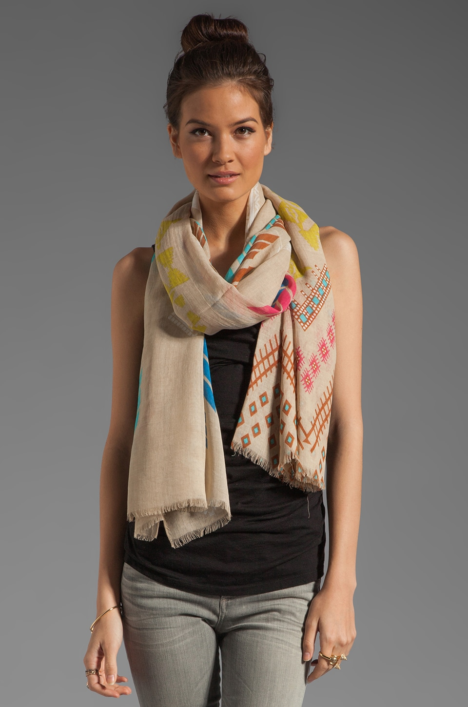 Twelfth Street By Cynthia Vincent Kayseri Zuni Scarf in Multi