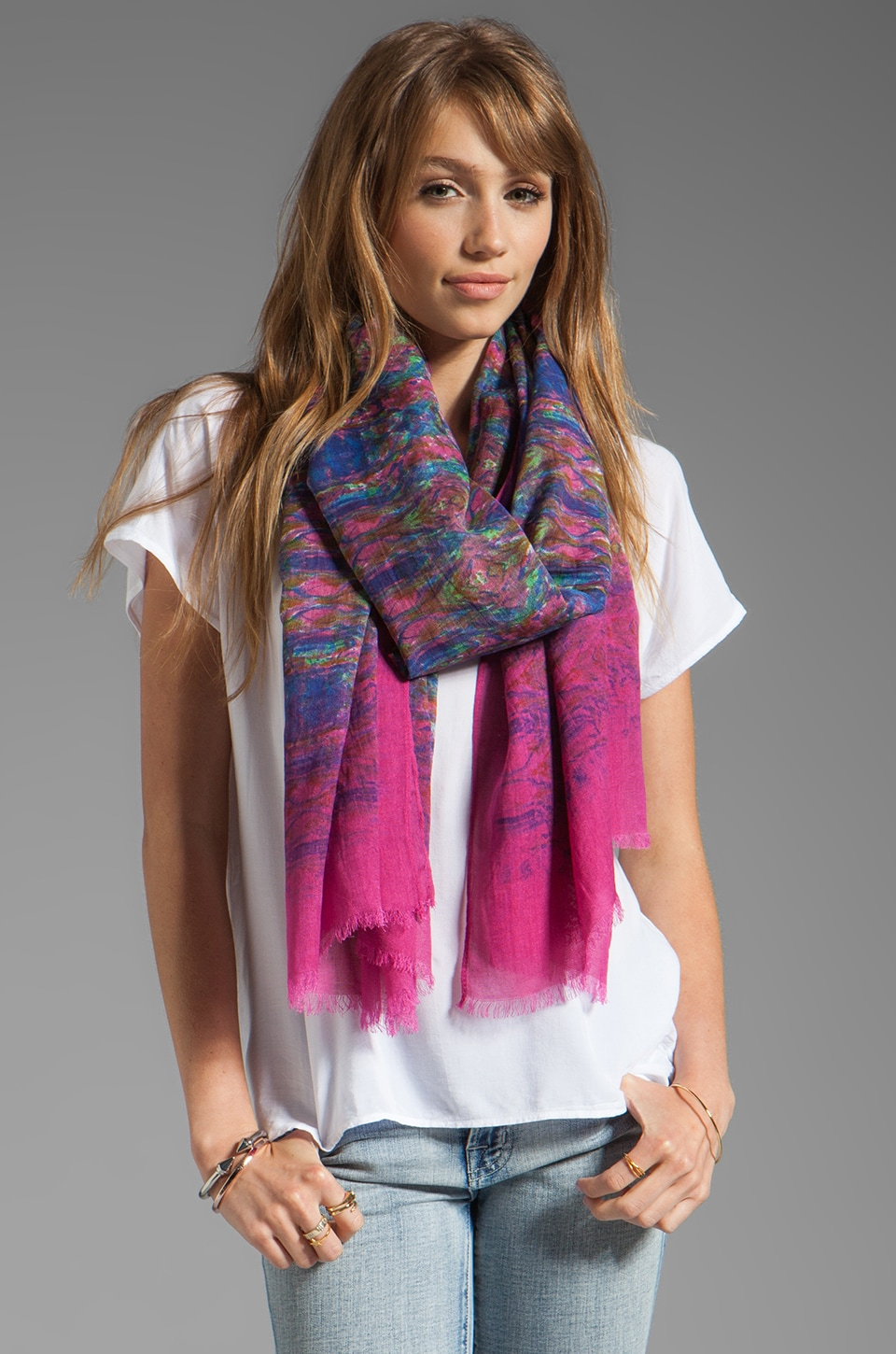 Twelfth Street By Cynthia Vincent Ismall Printed Scarf in Kalid Scarf