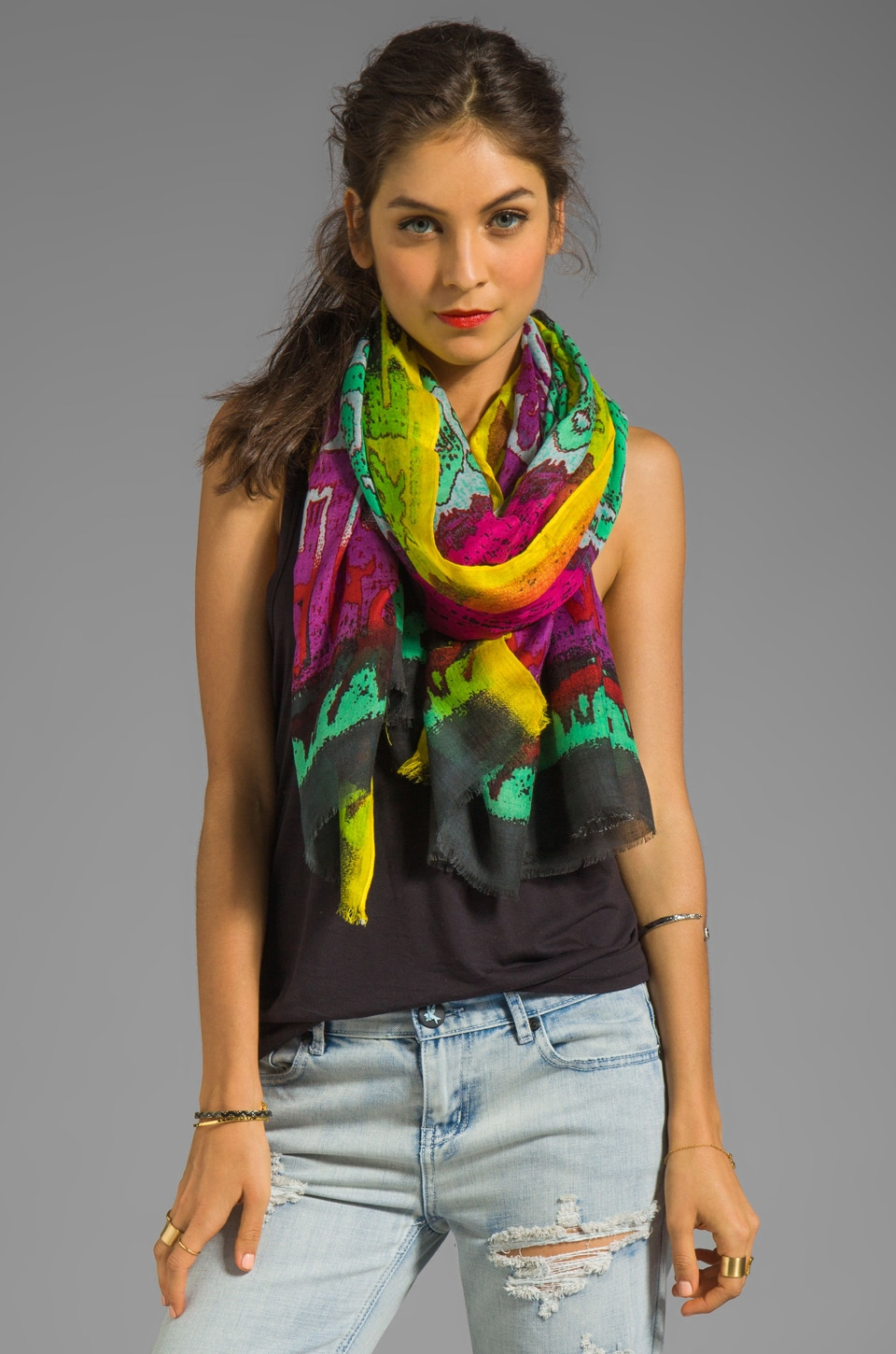 Twelfth Street By Cynthia Vincent Modal Scarf in Selimut Shoulder Scarf