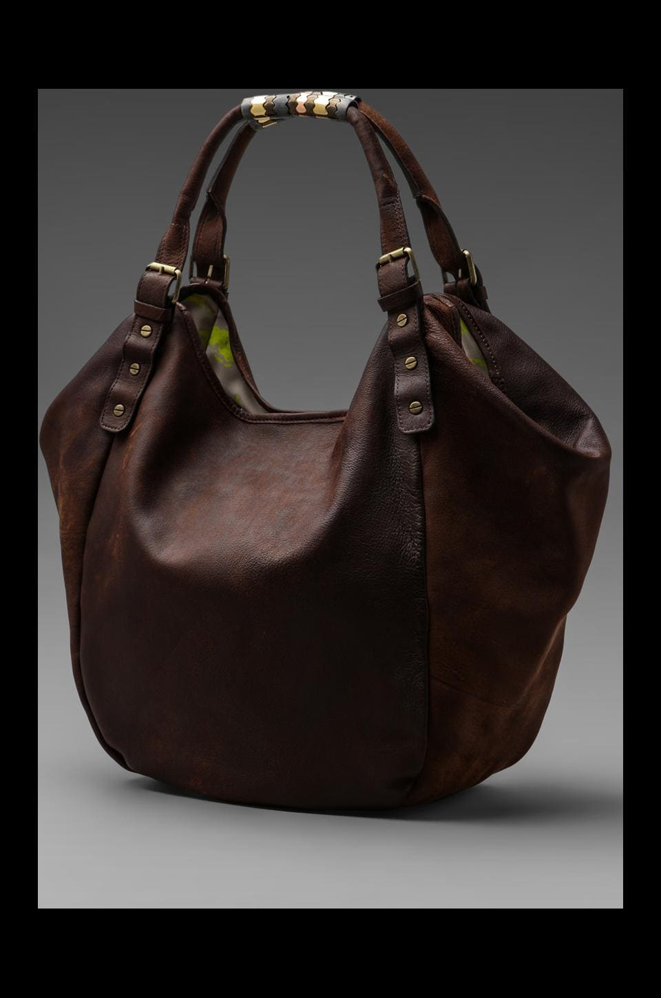 Twelfth Street By Cynthia Vincent Columbia Classic Berkeley Bag in Purple/Taupe