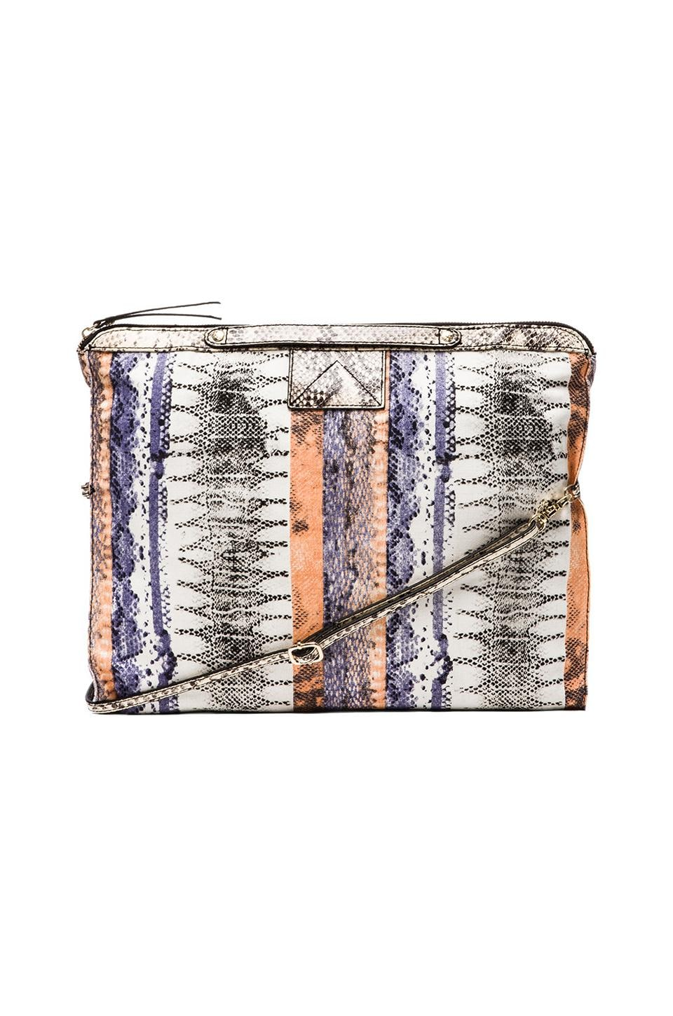 Twelfth Street By Cynthia Vincent Bankers Printed Snake Leather Crossbody Bag in Patchwork Snake