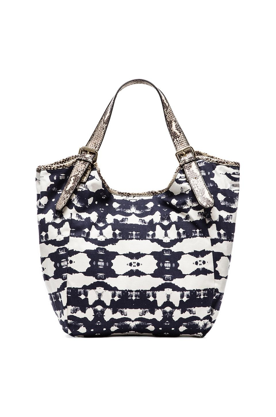 Twelfth Street By Cynthia Vincent Berkley Shoulder Bag in Tie Dye & Python