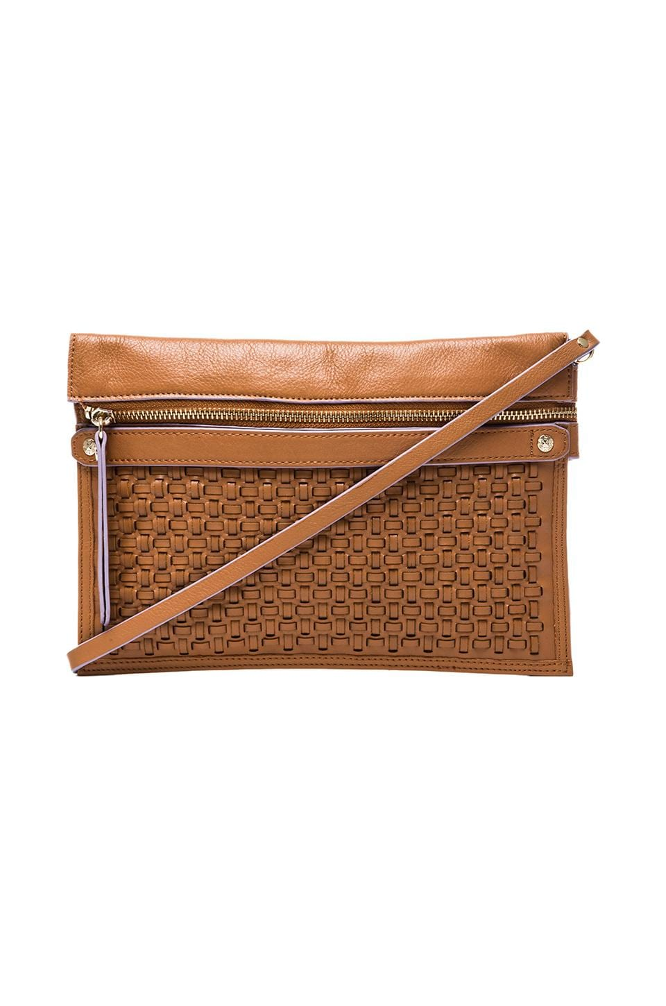 Twelfth Street By Cynthia Vincent Elsa Woven Leather Pouch in Tobacco