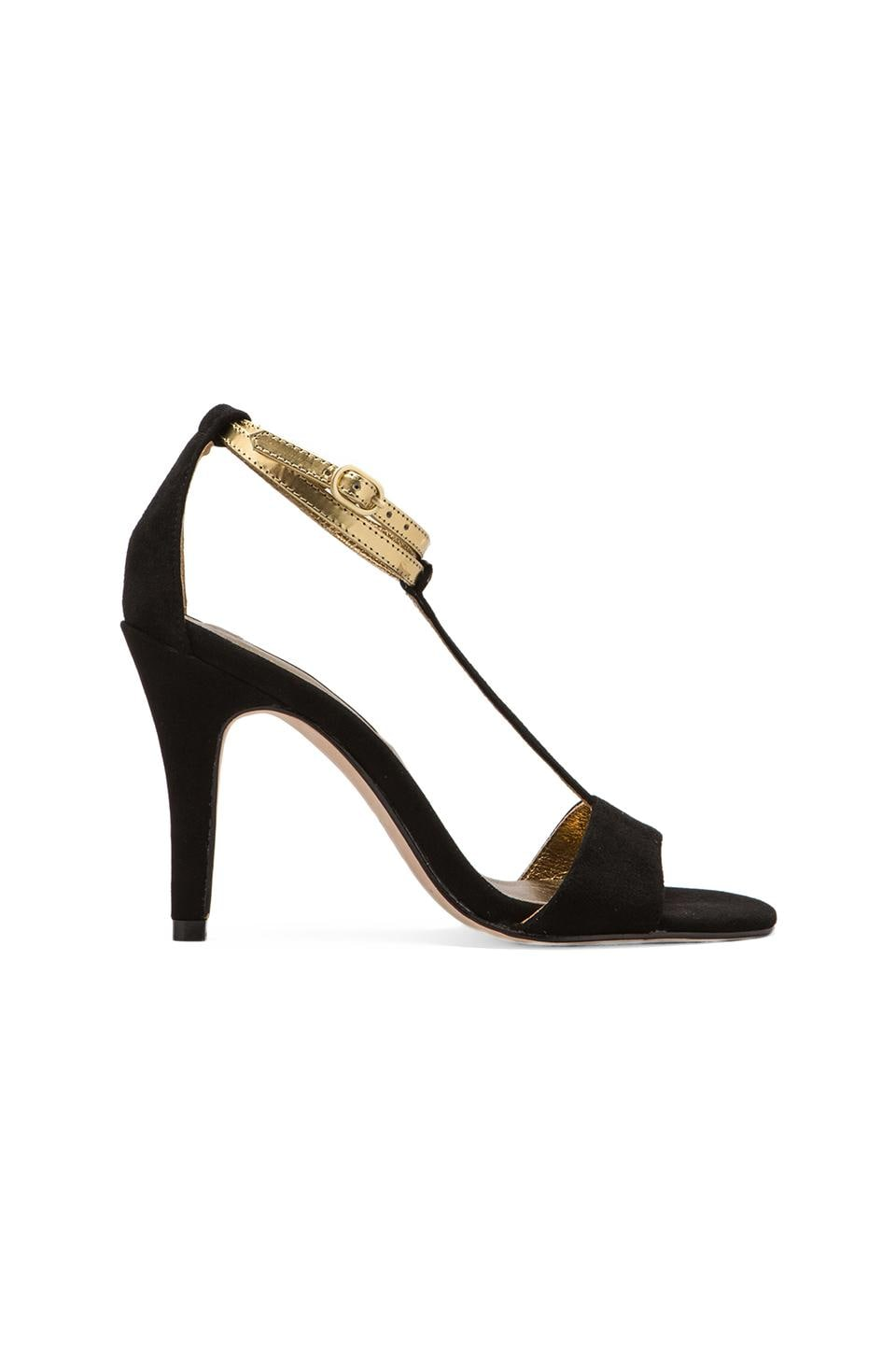 Twelfth Street By Cynthia Vincent Cynthia Vincent Makya Suede T-Strap in Black