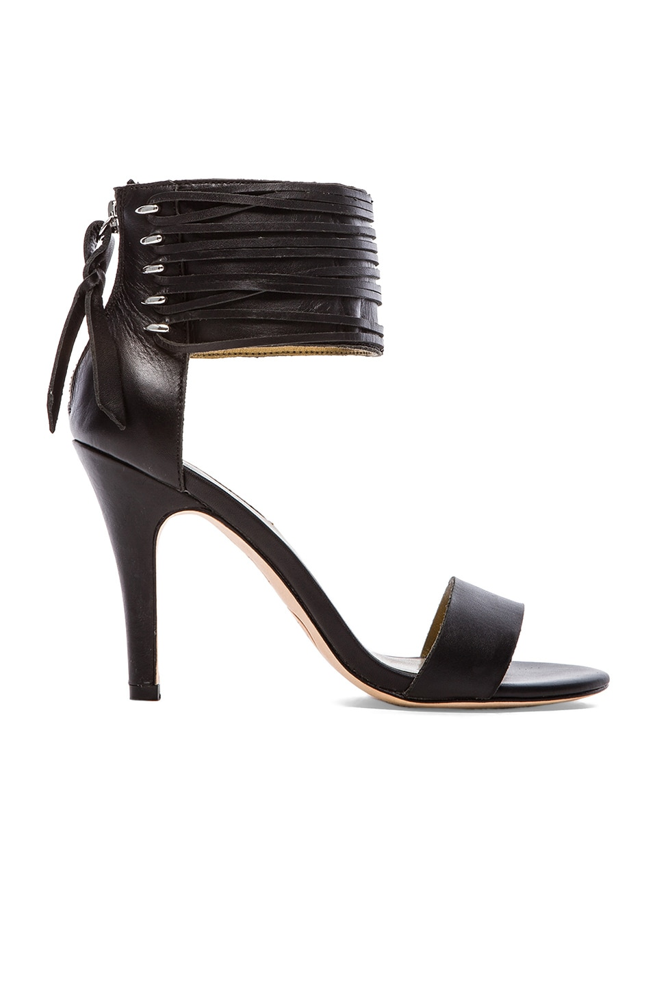 Twelfth Street By Cynthia Vincent Callie Woven Leather Lace Sandal in Black